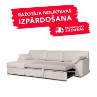 Dīvāns Modern Sleeping (Kreisais stūris, izvelkams)(Light Latte)
