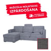 Dīvāns Modern Sleeping (Kreisais stūris, izvelkams)(Pelēks)