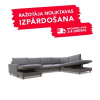 Dīvāns Mario Sleeping (U veida, Labais stūris, izvelkams)