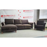 Dīvāns Eden Sleeping (Kreisais stūris, izvelkams)(Komplektā ar krēslu)