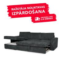 Dīvāns ELBA (Kreisais stūris, izvelkams)(Antrazite)