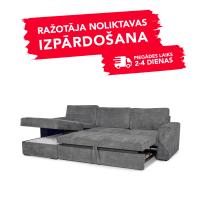 Dīvāns ELBA (Kreisais stūris, izvelkams)(Grey)