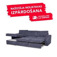 Dīvāns ELBA (Kreisais stūris, izvelkams)(Purple)