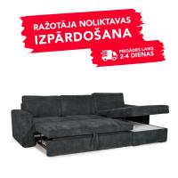 Dīvāns ELBA (Labais stūris, izvelkams)(Antrazite)