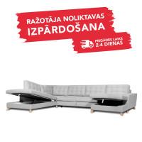 Dīvāns Porto Sleeping (U veida, Kreisais stūris, izvelkams)
