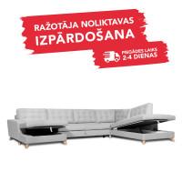 Dīvāns Porto Sleeping (U veida, Labais stūris, izvelkams)