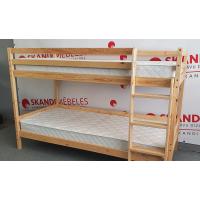 Divstāvu koka gulta + matrači MARK (90x200cm)