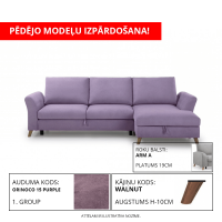 Dīvāns MERLIN SLEEPING (Labais stūris, izvelkams)