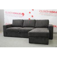 Dīvāns ELBA (Labais stūris, izvelkams)(Antracīts)