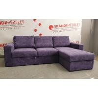 Dīvāns ELBA (Labais stūris, izvelkams)(Violets)