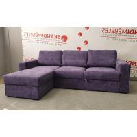 Dīvāns ELBA (Kreisais stūris, izvelkams)(Violets)