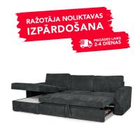 Dīvāns Modern Sleeping (Kreisais stūris, izvelkams)(Antracīta)
