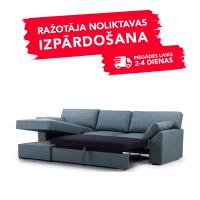 Dīvāns Modern Sleeping (Kreisais stūris, izvelkams)(Zils)