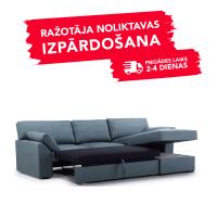 Dīvāns Modern Sleeping (Labais stūris, izvelkams)(Zils)