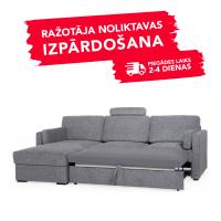 Dīvāns Modern Sleeping (Kreisais stūris, izvelkams)(Pelēka)