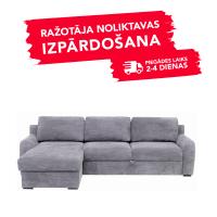 Dīvāns ELBA (Kreisais stūris, izvelkams)(Gaiši pelēks)