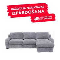 Dīvāns ELBA (Labais stūris, izvelkams)(Gaiši pelēks)