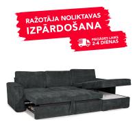 Dīvāns Modern Sleeping (Labais stūris, izvelkams)(Antracīta)