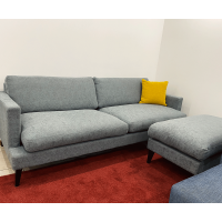 Dīvāns Kville (Trīsvietīgs + Pufs)