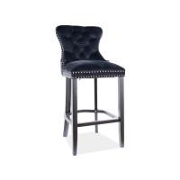 Bāra krēsls Mondiana H-1 (Velveta/Melnas kājas)