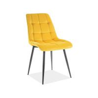 Virtuves krēsls Pearl (Velveta/Melnas kājiņas)