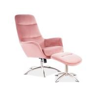 Krēsls ar kājgali Lazy (Velveta)