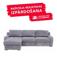 Dīvāns Elba (Kreisais stūris, izvelkams)(Light grey)