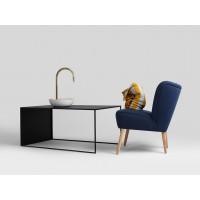 Kafijas galdiņš Larvik 100x60 Metal