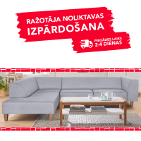 Dīvāns Diva Light Grey (Stūra)